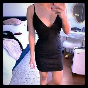 Black suede LF dress with tags